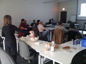 UX Movie Night, from the back of the room